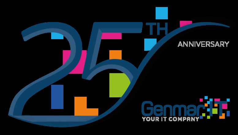 Genmar IT 25th Anniversary Logo 2021 - Transparent
