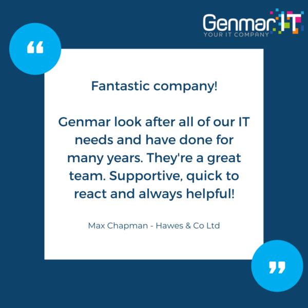 Testimonial Genmar IT - Hawes & Co Ltd